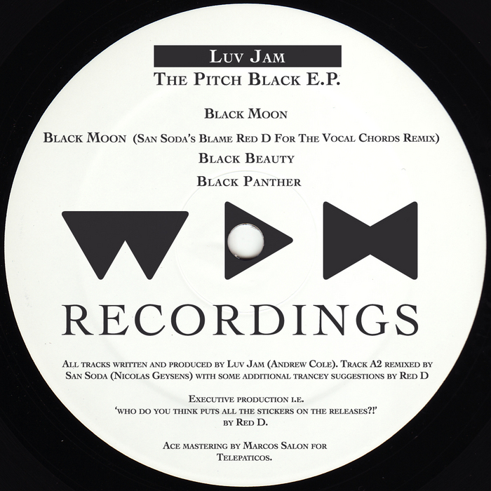 LUV JAM - Pitch Black EP