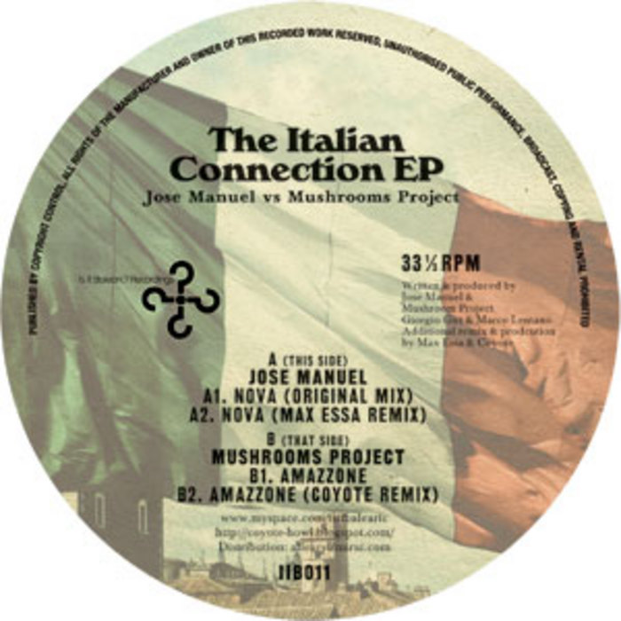 MANUEL, Jose/MUSHROOMS PROJECT - The Italian Connection EP