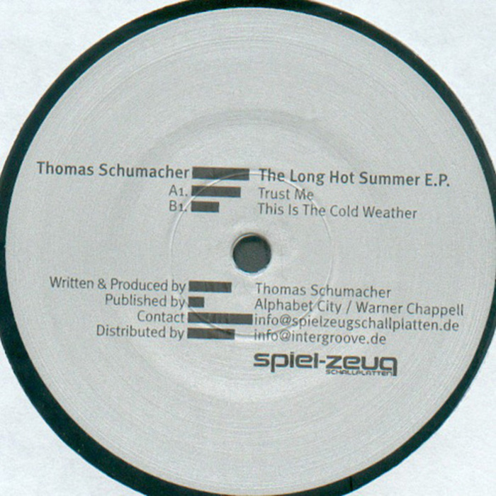 SCHUMACHER, Thomas - The Long Hot Summer EP