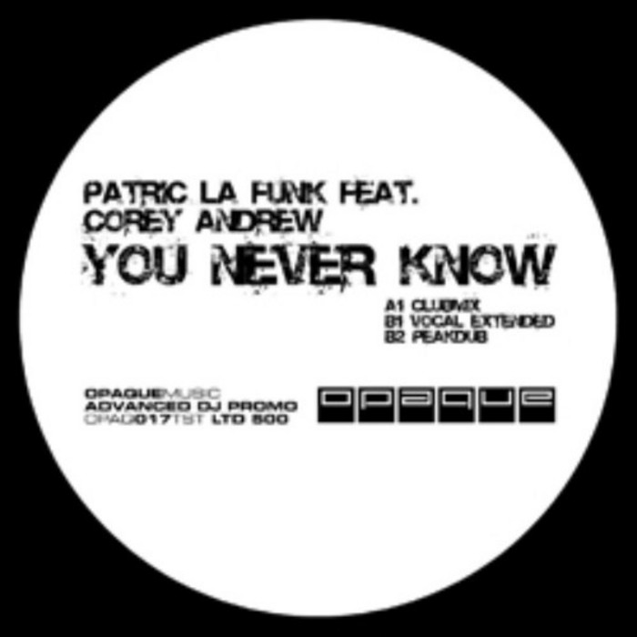 LA FUNK, Patric feat COREY ANDREW - You Never Know