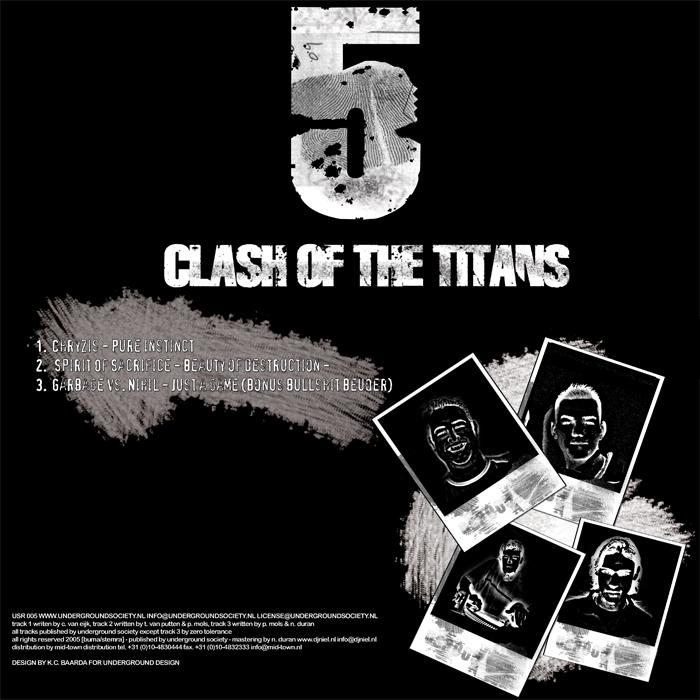 PHENOMENA/THE HALLUCINATOR/DIFFREQ/CHRYZIS/SPIRIT OF SACRIFICE/GARBAGE VS NIHIL - Clash Of The Titans