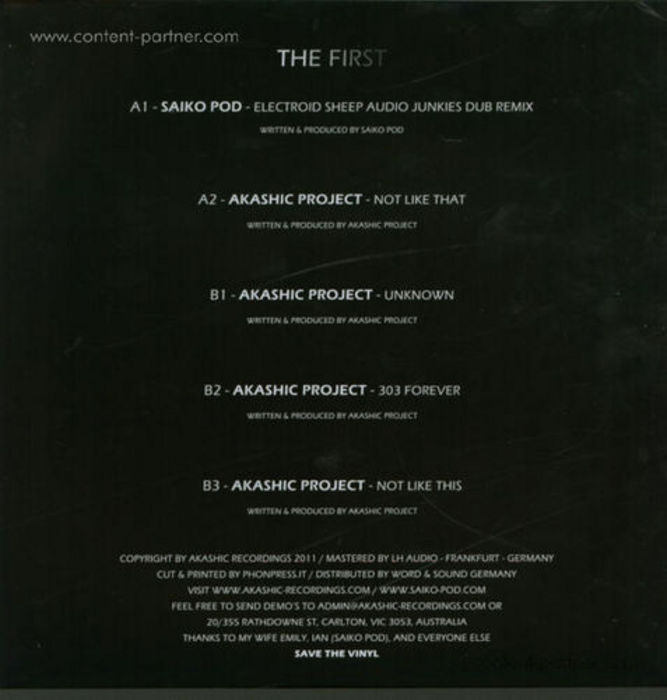 AKASHIC PROJECT - The First