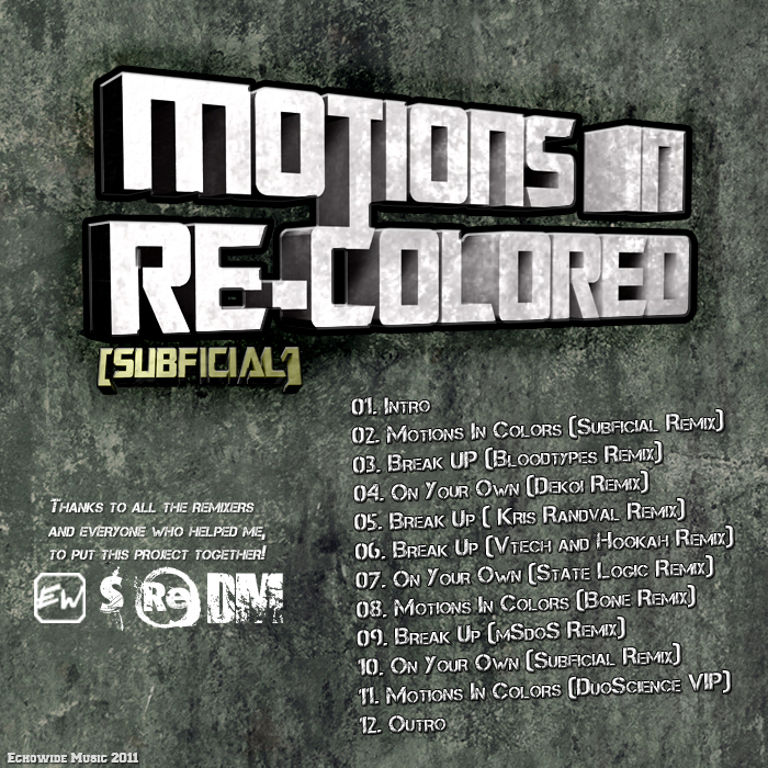 SUBFICIAL - Motions In Re Colored