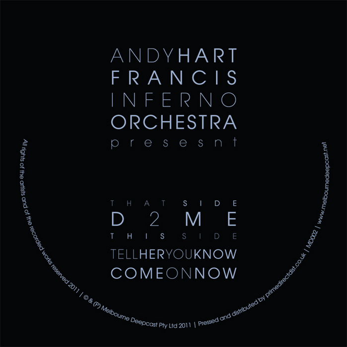 HART, Andy/FRANCIS INFERNO ORCHESTRA - D2ME