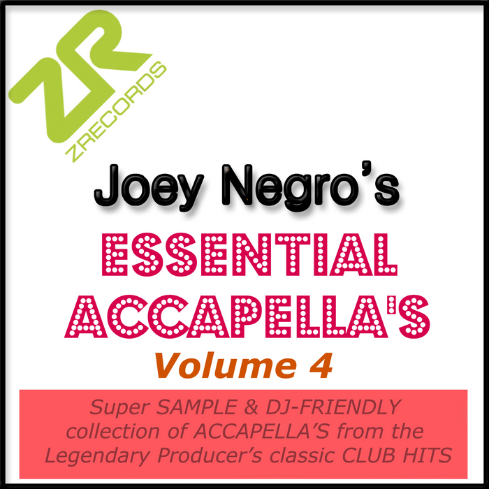 VARIOUS - Joey Negro's Essential Accappella's Volume 4
