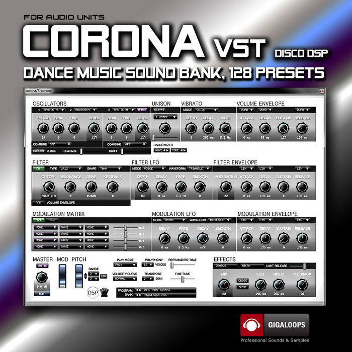 GIGALOOPS - Corona Audio Units (Sample Pack Corona Prestes)