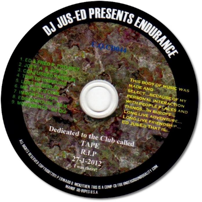 DJ JUS ED - Endurance