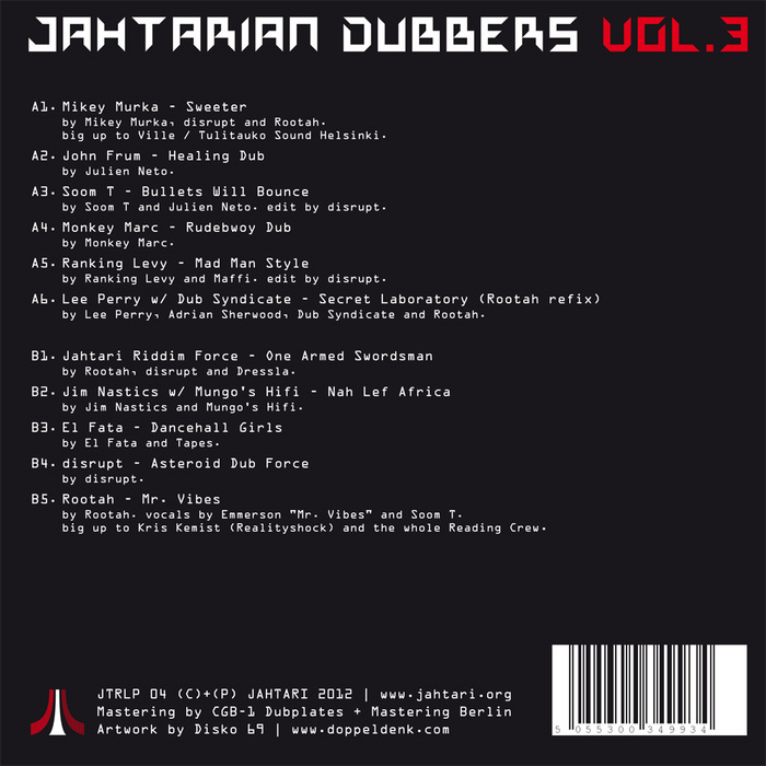 VARIOUS - Jahtarian Dubbers Vol 3