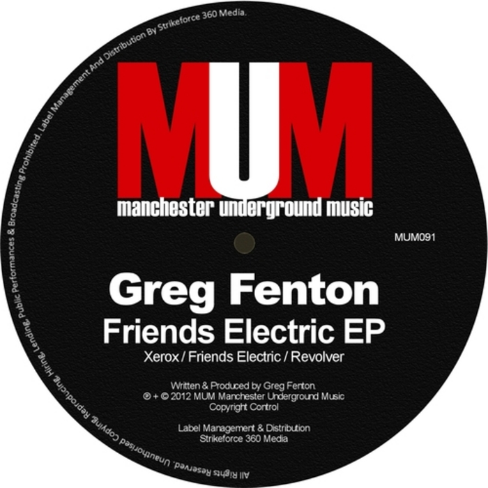 FENTON, Greg - Friends Electric Ep