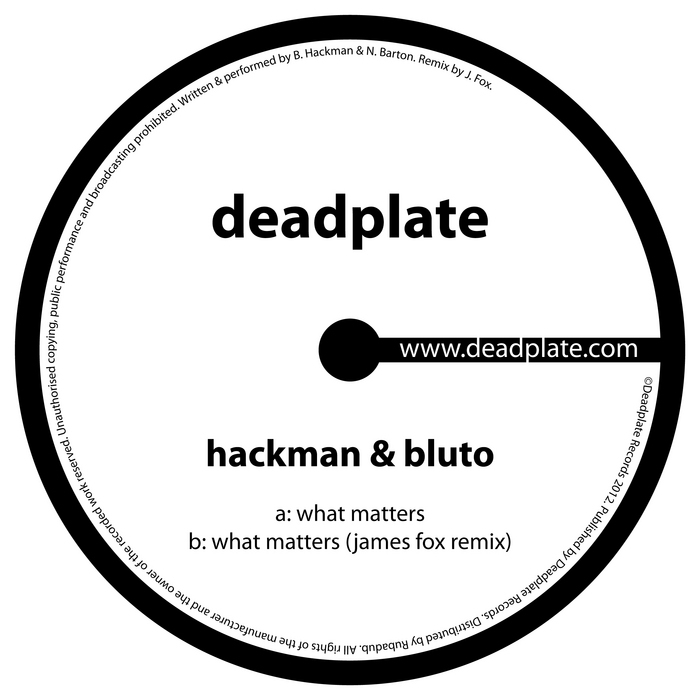 HACKMAN/BLUTO - What Matters