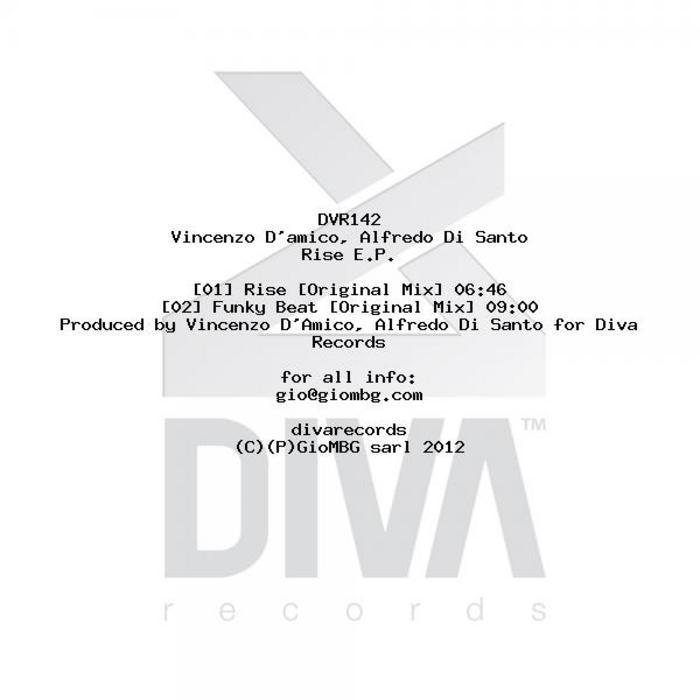 VINCENZO D'AMICO/ALFREDO DI SANTO - Rise EP