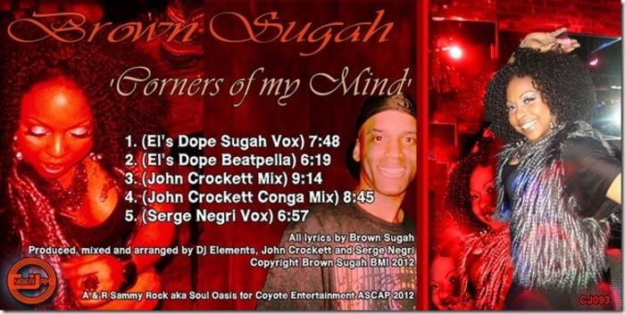 BROWN SUGAH - Corners Of My Mind