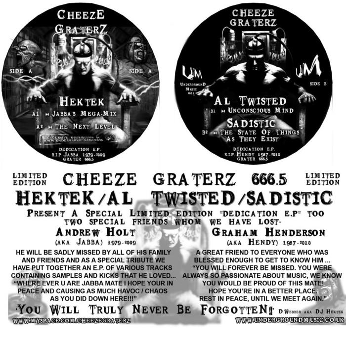 HEKTEK/SADISTIC/AL TWISTED - Cheeze Graterz 666 5