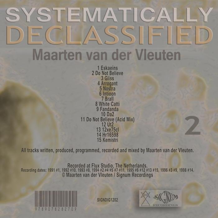 VAN DER VLEUTEN, Maarten - Systematically Declassified 2