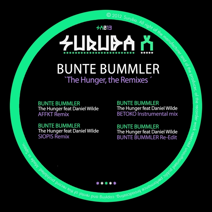 BUMMLER, Bunte feat DANIEL WILDE - The Hunger (The remixes)