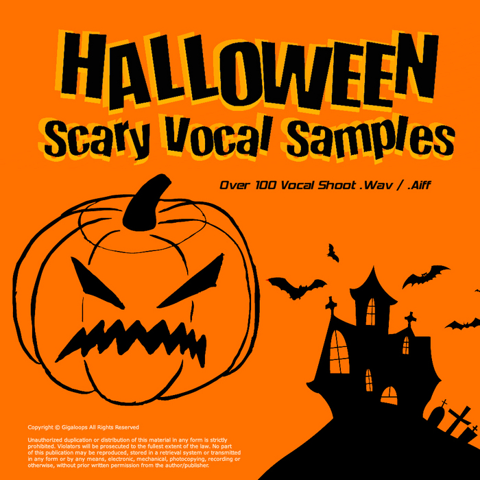 gigaloops halloween scary vocal sample pack wavaiff front cover - Halloween Wav Files