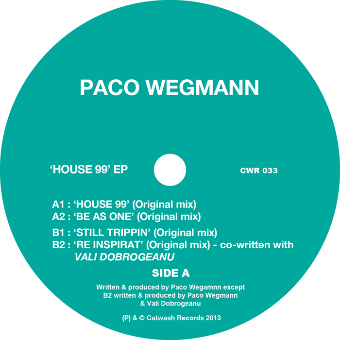 WEGMANN, Paco - House 99 EP