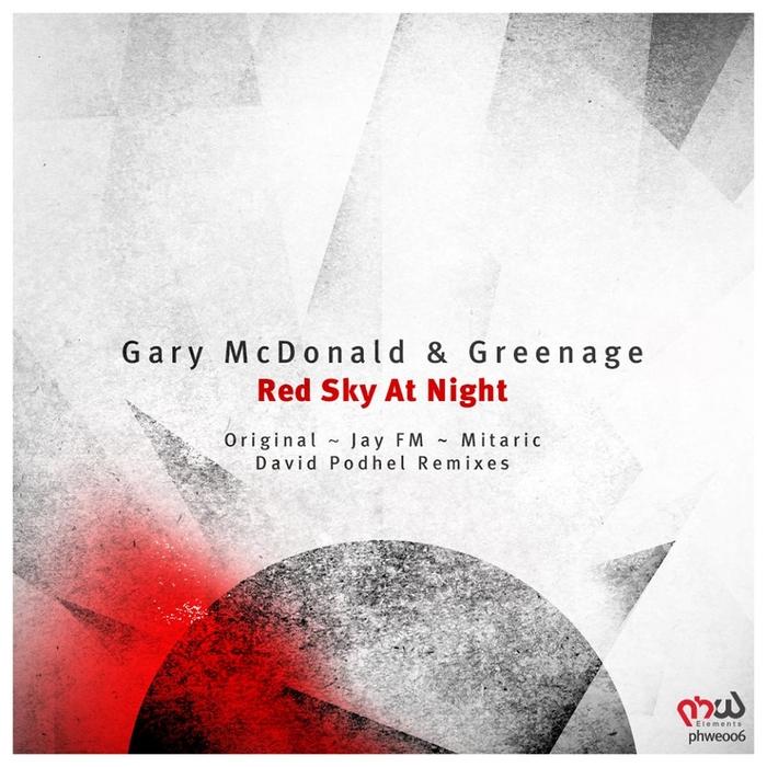 GREENAGE/GARY MCDONALD - Red Sky At Night (remixes)