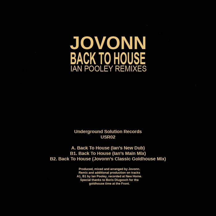 JOVONN - Back To House (remixes)