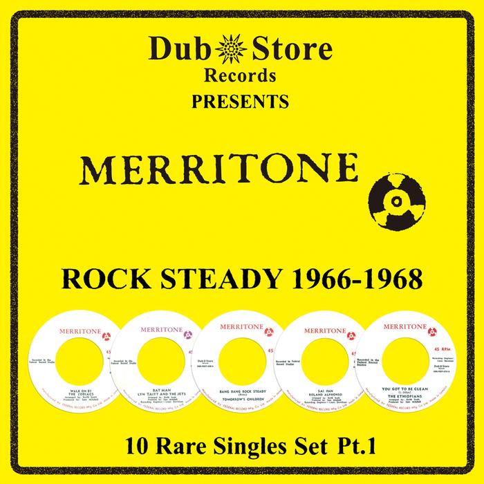 VARIOUS - Merritone Rocksteady 1966 To 1968 - 10 Rare Singles Set Pt. 1