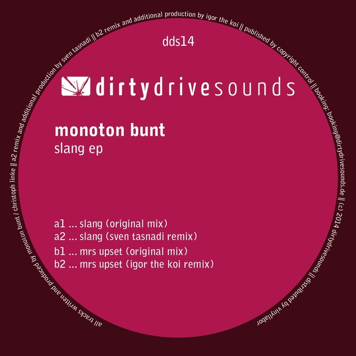 MONOTON BUNT - Slang EP
