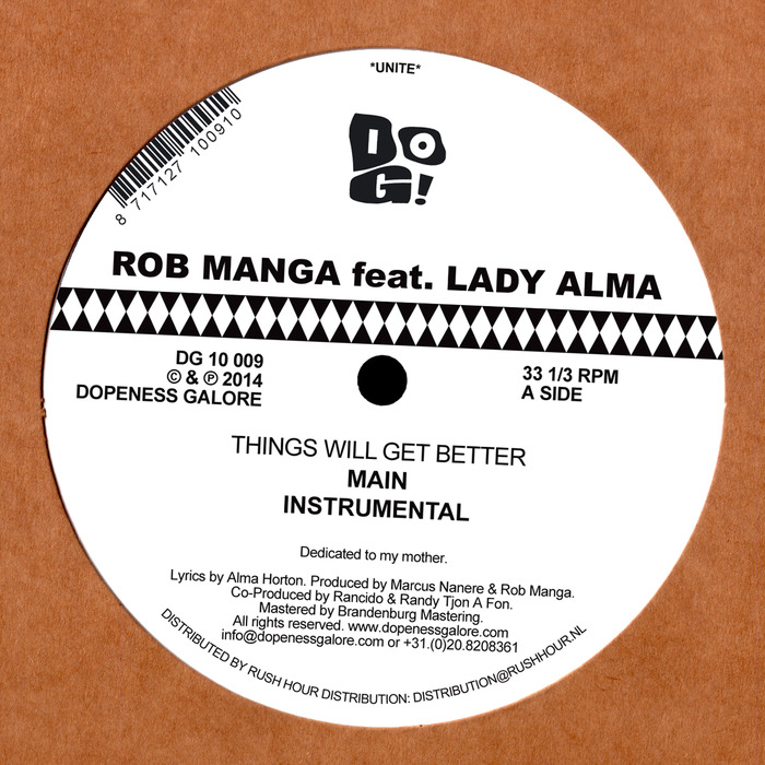 MANGA, Rob feat LADY ALMA - Things Will Get Better
