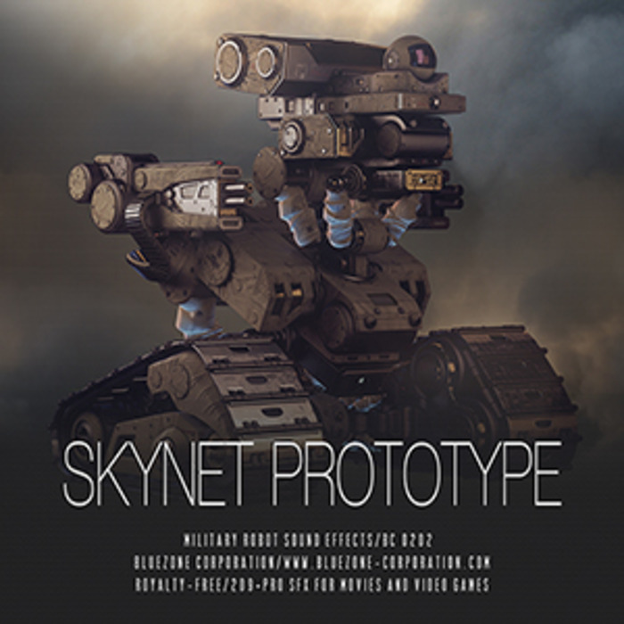 BLUEZONE CORPORATION - Skynet Prototype - Military Robot Sound Effects (Sample Pack WAV/AIFF)