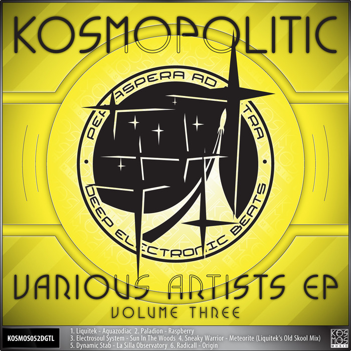 LIQUITEK/PALADION/ELECTROSOUL SYSTEM/SNEAKY WARRIOR/DYNAMIC STAB/RADICALL - V/A Kosmopolitic EP Vol 3