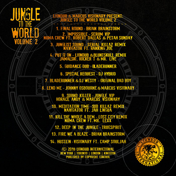 VARIOUS - Liondub & Marcus Visionary Present Jungle To The World Volume 2