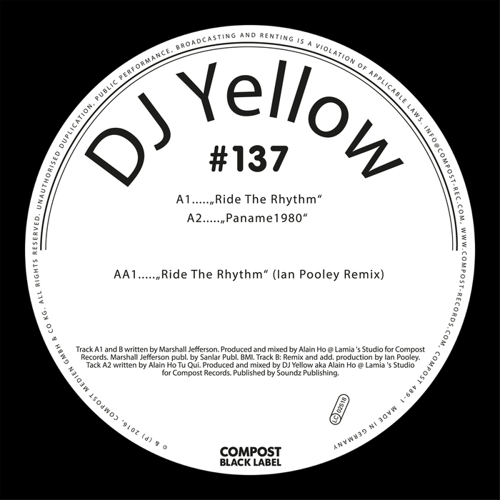 DJ YELLOW - Ride The Rhythm EP: Compost Black Label #137