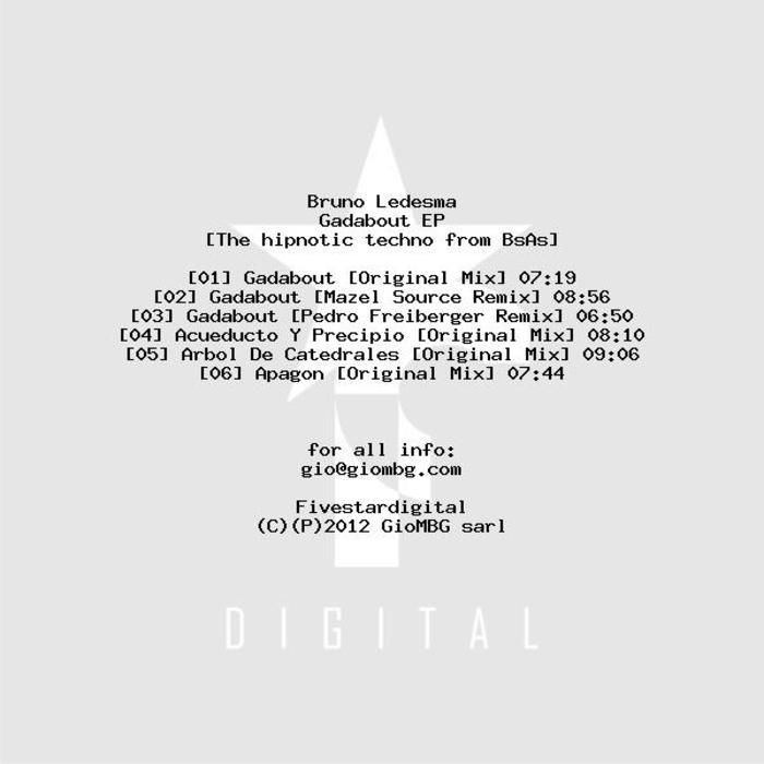 BRUNO LEDESMA - Gadabout EP