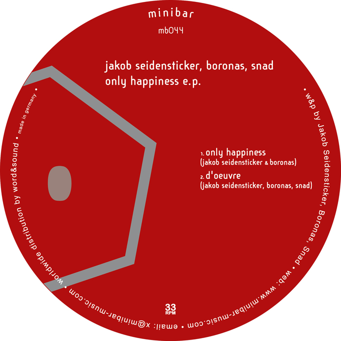 JAKOB SEIDENSTICKER/BORONAS/SNAD - Only Happiness EP