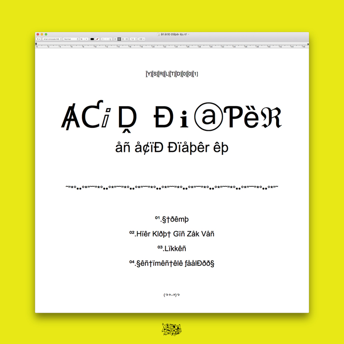 ACID DIAPER - An Acid Diaper EP
