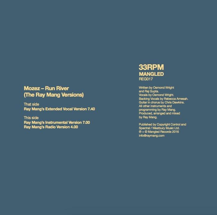 MOZEZ - Run River (The Ray Mang Versions)