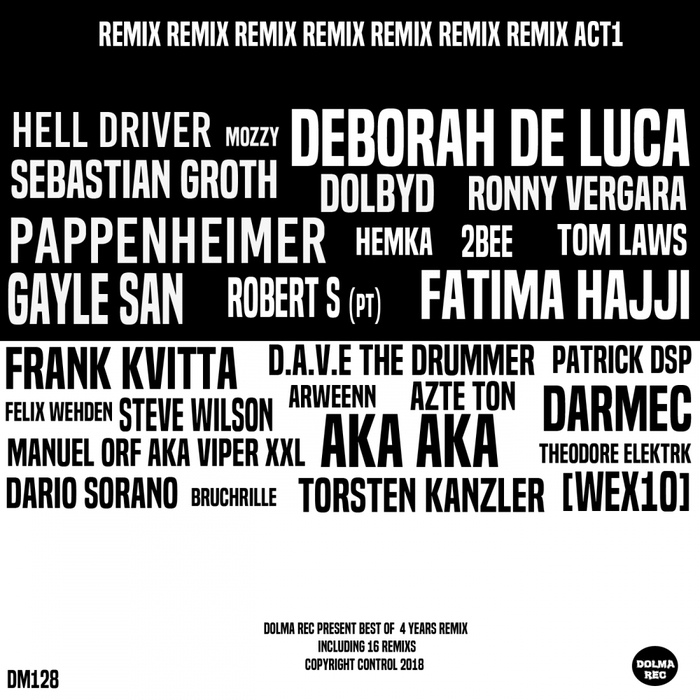 VARIOUS - Dolma 4 Years The Remix Act 1