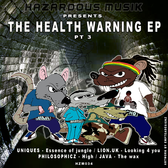 UNIQUES/LION-UK/PHILOSOPHICZ/JAVA - The Health Warning EP Pt 3