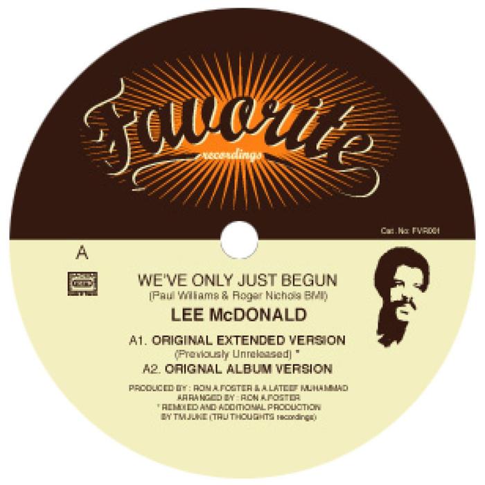 LEE MC DONALD - We've Only Just Begun