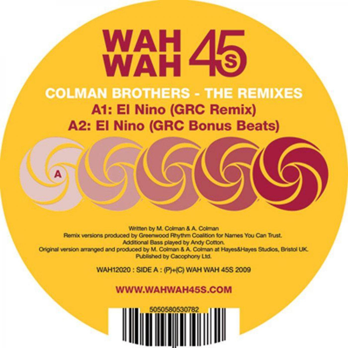 COLMAN BROTHERS - The Remixes