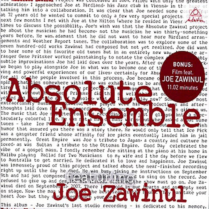 ABSOLUTE ENSEMBLE/JOE ZAWINUL - Absolute Zawinul