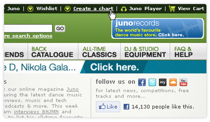 Create a Juno Chart of your playlist